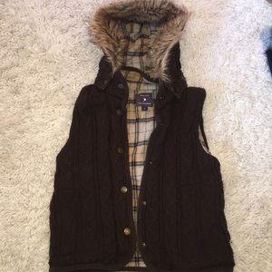 Hooded vest from forever21